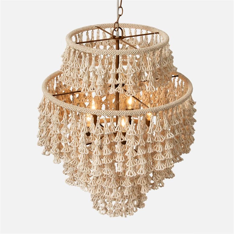 made goods Mckenzie chandelier round flower