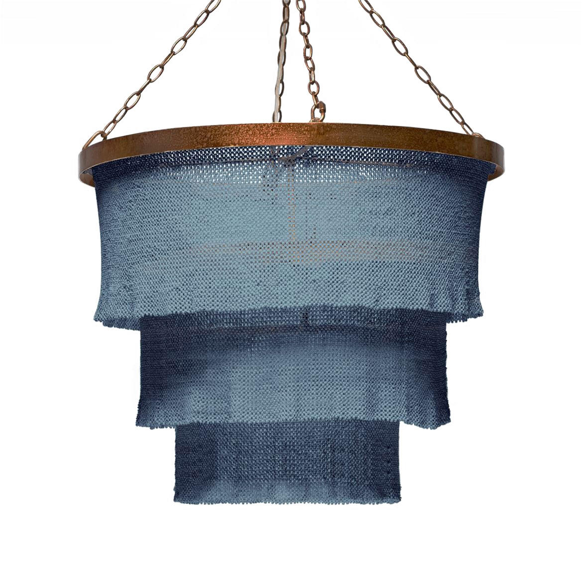 Made Goods Patricia Chandelier Dusty Blue and Gold