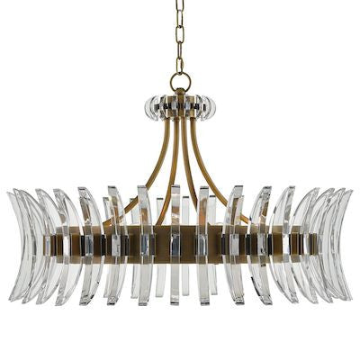 currey and company coquette chandelier glass brass round
