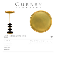 currey and company cirebon brass drinks table tearsheet