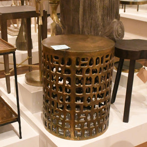 currey alvar accent table brass