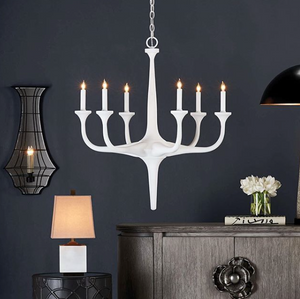 Currey and Company Albion Chandelier Lighting Wrought Iron