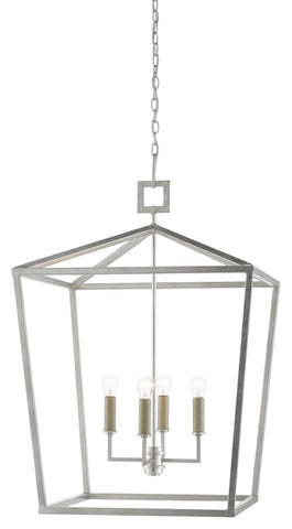 currey and company denison large silver lantern