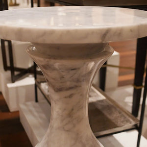 currey and company jesper white drinks table white marble