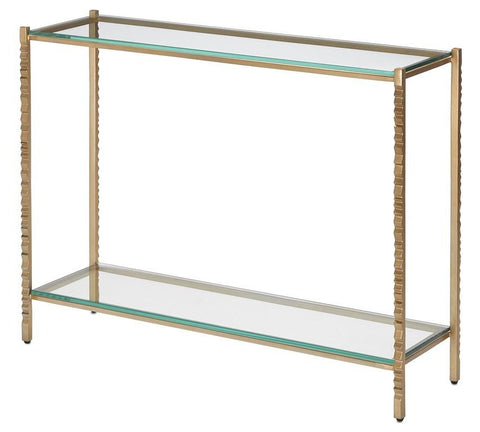 currey and company logan console gold