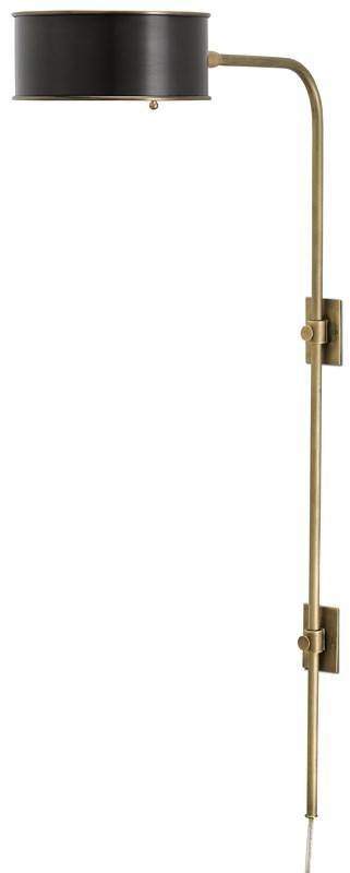 currey and company overture sconce brass