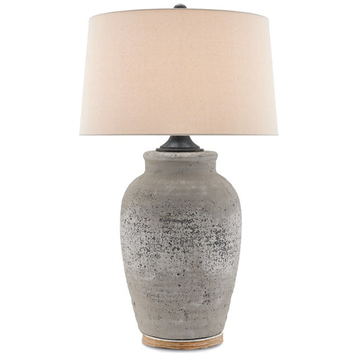 currey and company quest table lamp lighting concrete metal