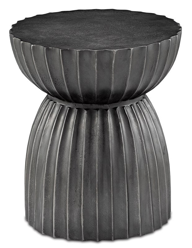 currey and company rasi stool table graphite