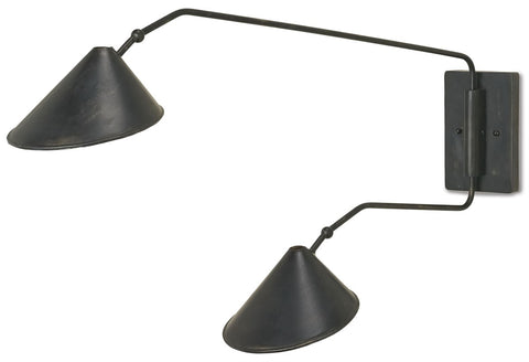 currey and company serpa double wall sconce
