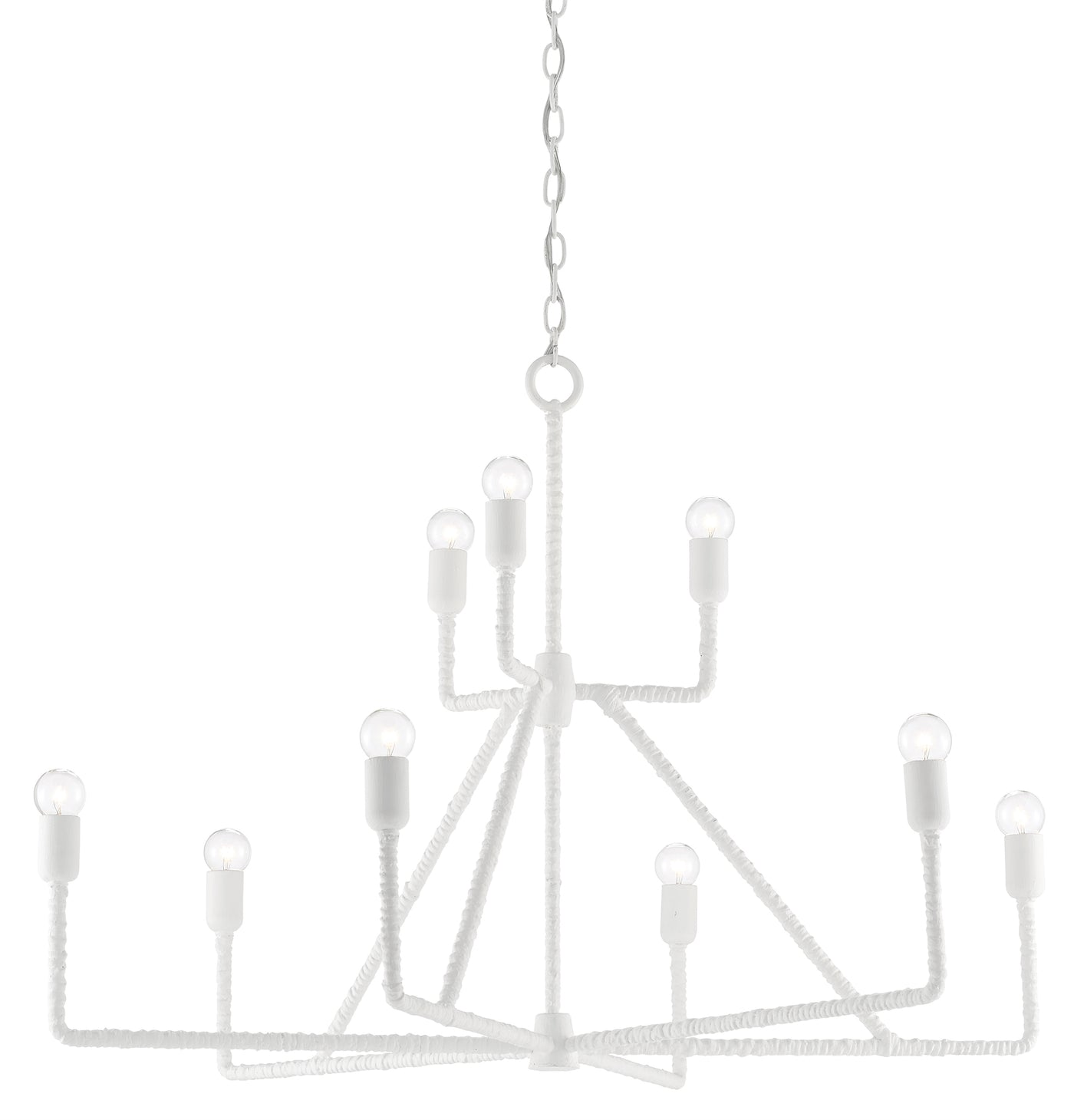 currey and company trilling chandelier side