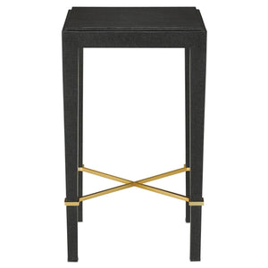currey and company verona drinks table front view black lacquer