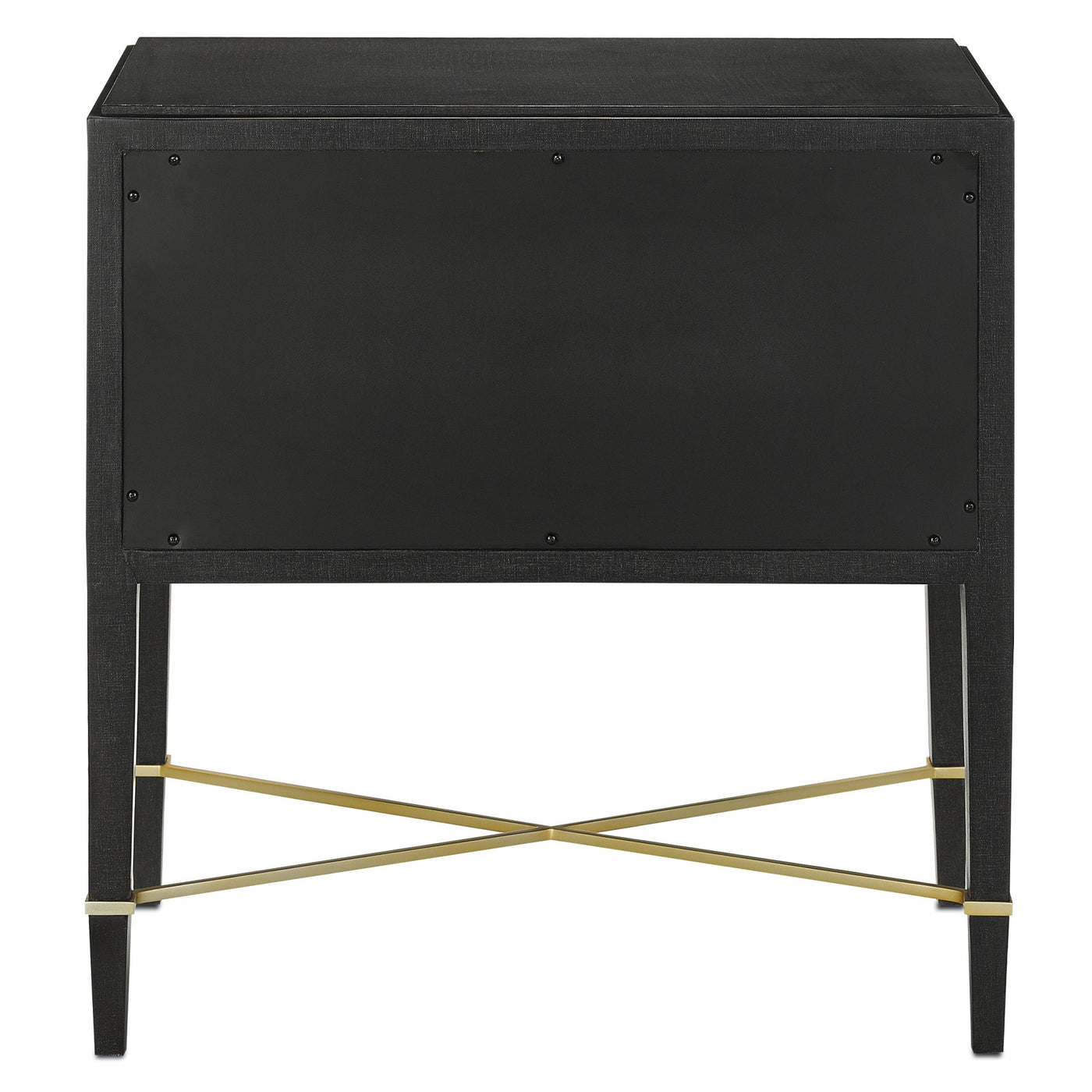 currey and company verona nightstand back view black lacquer