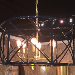 arteriors home zia chandelier navy room view