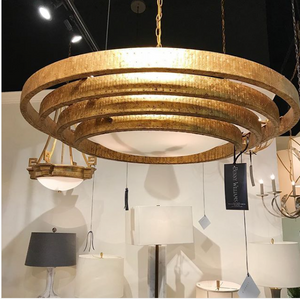 currey and company belle chandelier lighting gold contemporary showroom