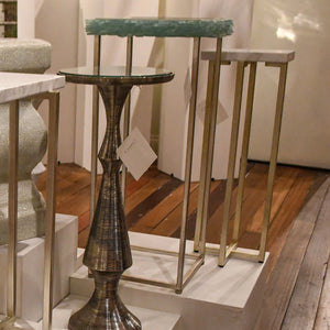 currey and . company cora drinks table metal and stone