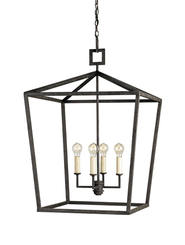 currey and company Denison lantern black metal