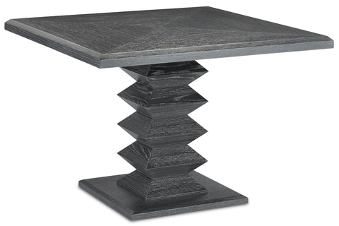 currey and company sayan black dining table