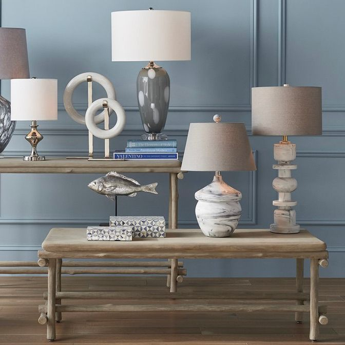currey vitellian gray table lamp styled
