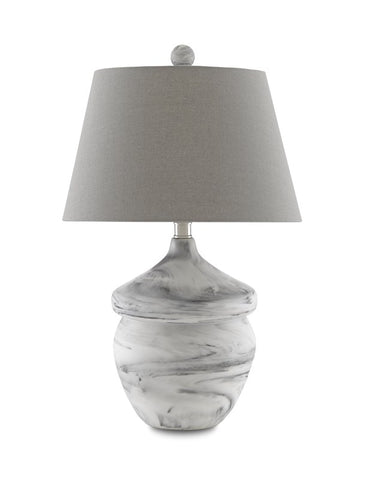 currey vitellian gray table lamp