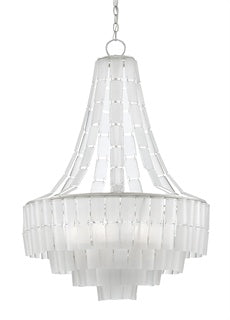 curry and company chandelier vintner blanc white frosted glass front