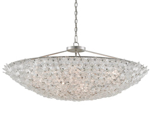 "currey and company belinda chandelier silver 18""h 45""rd front"