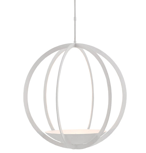 "curreyandcompany moondance orb chandelier white 37""h gesso"