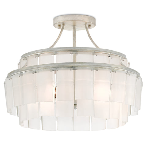 curreyandcompany vintner blanc semi flush mount chandelier white 14.5h