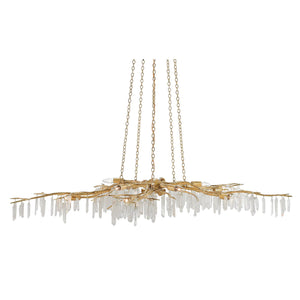 currey and company forest light chandelier quartz white pendant