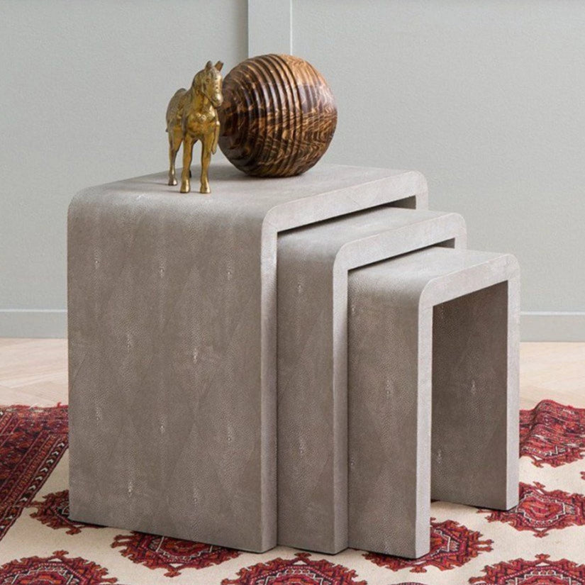 made goods Harlow nesting side table gray stacking