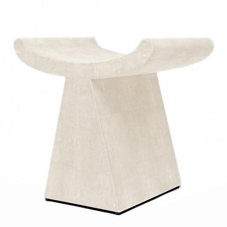 made goods annika stool ivory seating extra seat faux shagreen