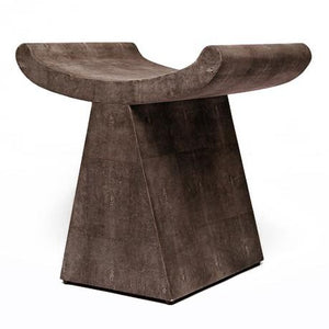 made goods annika stool dark mushroom faux shagreen furniture seating