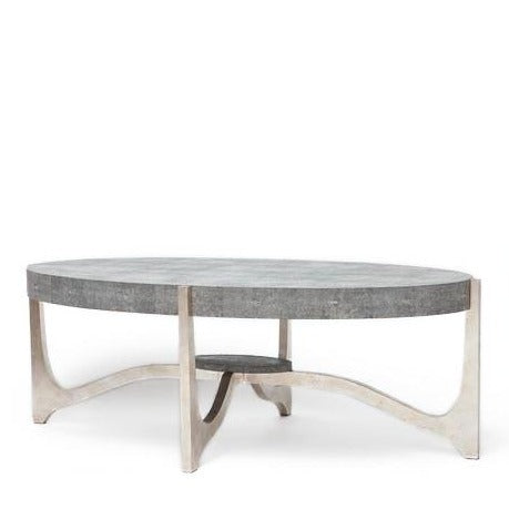 made goods dexter coffee table cool grey gray silver faux shagreen stone top coffee table