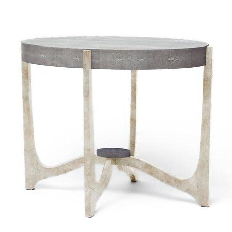 made goods dexter side table cool grey gray silver faux shagreen side tables bed side tables
