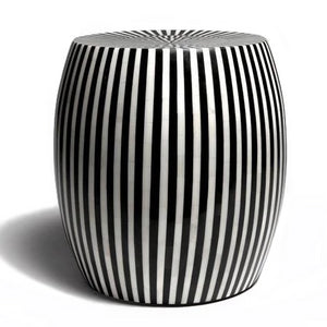made goods janson striped stool black and white indoor outdoor seating extra seating side table stool