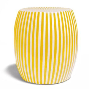 made goods janson striped stool yellow and white indoor outdoor seating side table