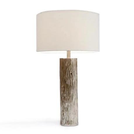made goods russell table lamp silver wood-grain finish tables lamps for living room bedroom table lamp