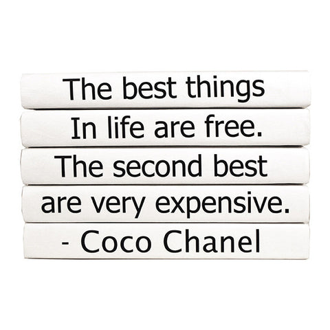 e lawrence The Best Things Coco Chanel Quote Book Set