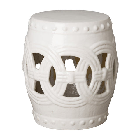 emissary eternity garden stool white