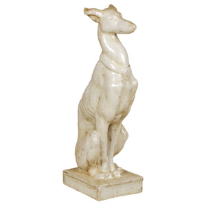 Emissary Whippet Statue Cream 12963cr hollywood regency