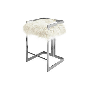 worlds away emmett counter stool nickel fur