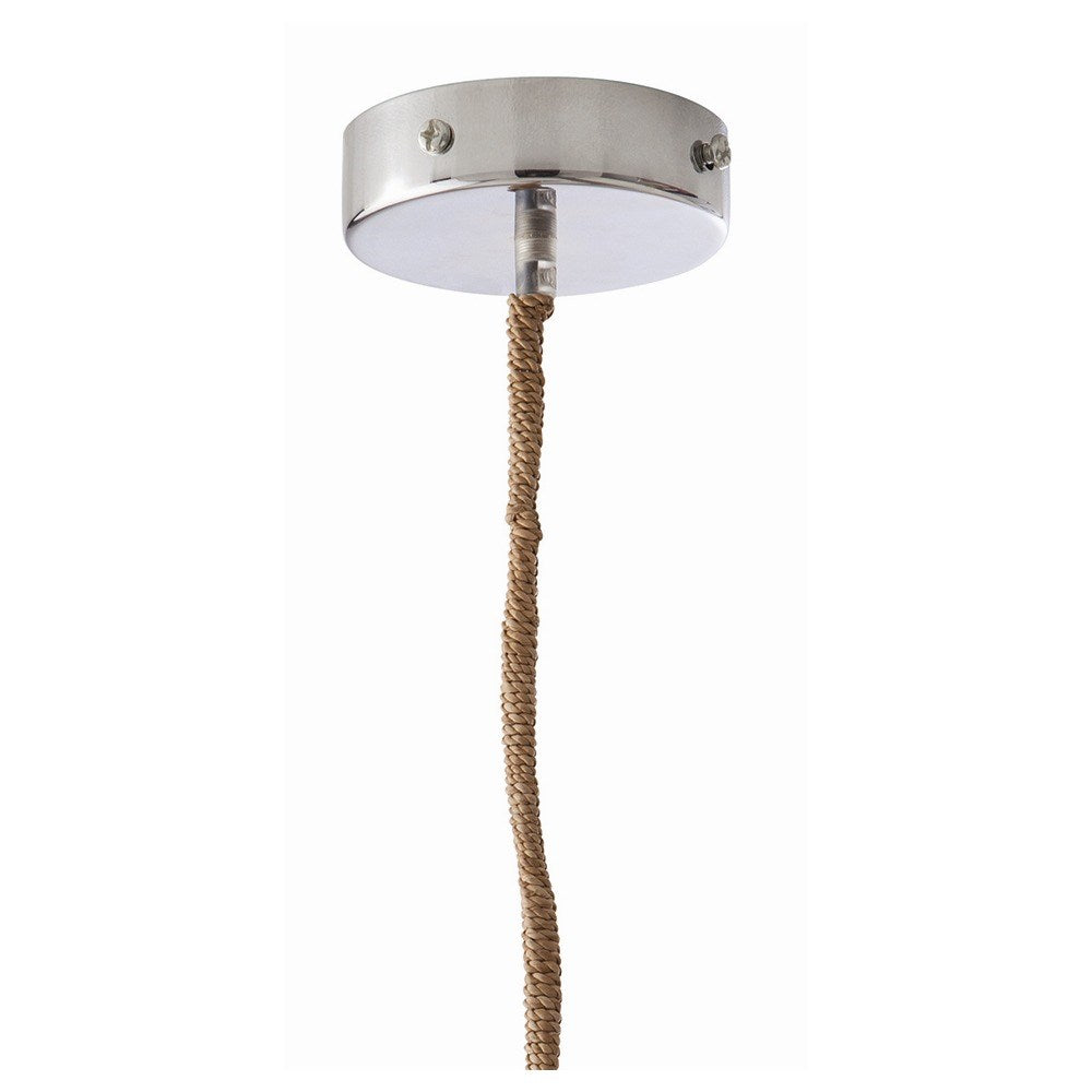 Arteriors Home Evers Pendant Seagrass Natural Hive canopy detail