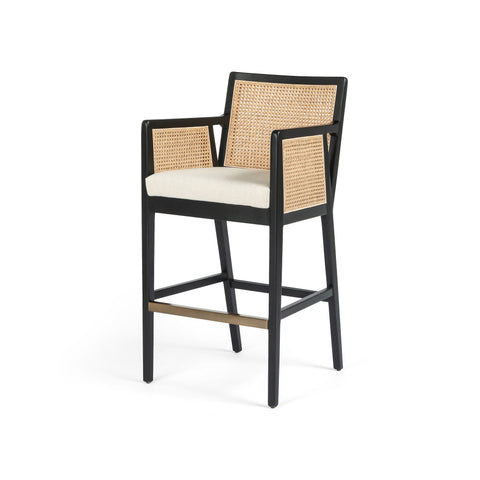four hands antonia bar stool black
