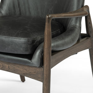 four hands braden dining arm chair durango smoke arm