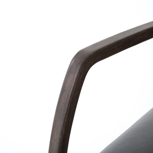 four hands bryson desk chair chaps ebony arm