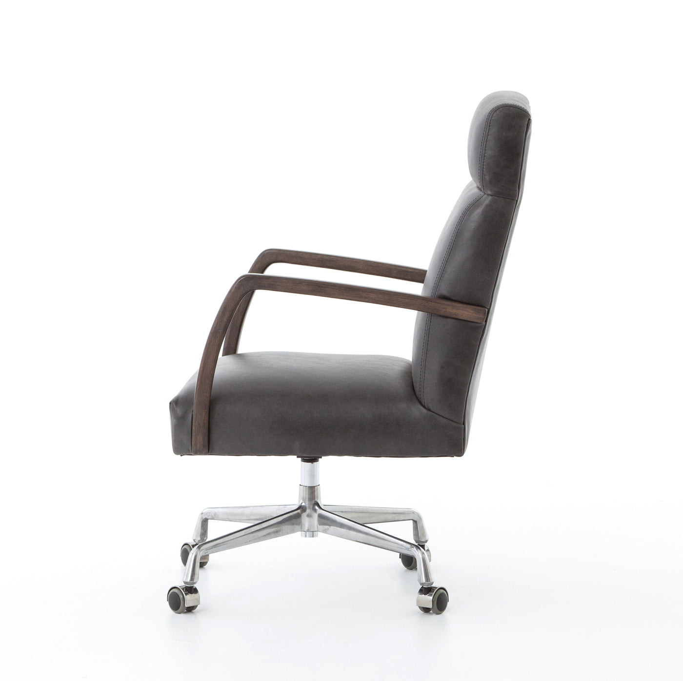 four hands bryson desk chair chaps ebony side