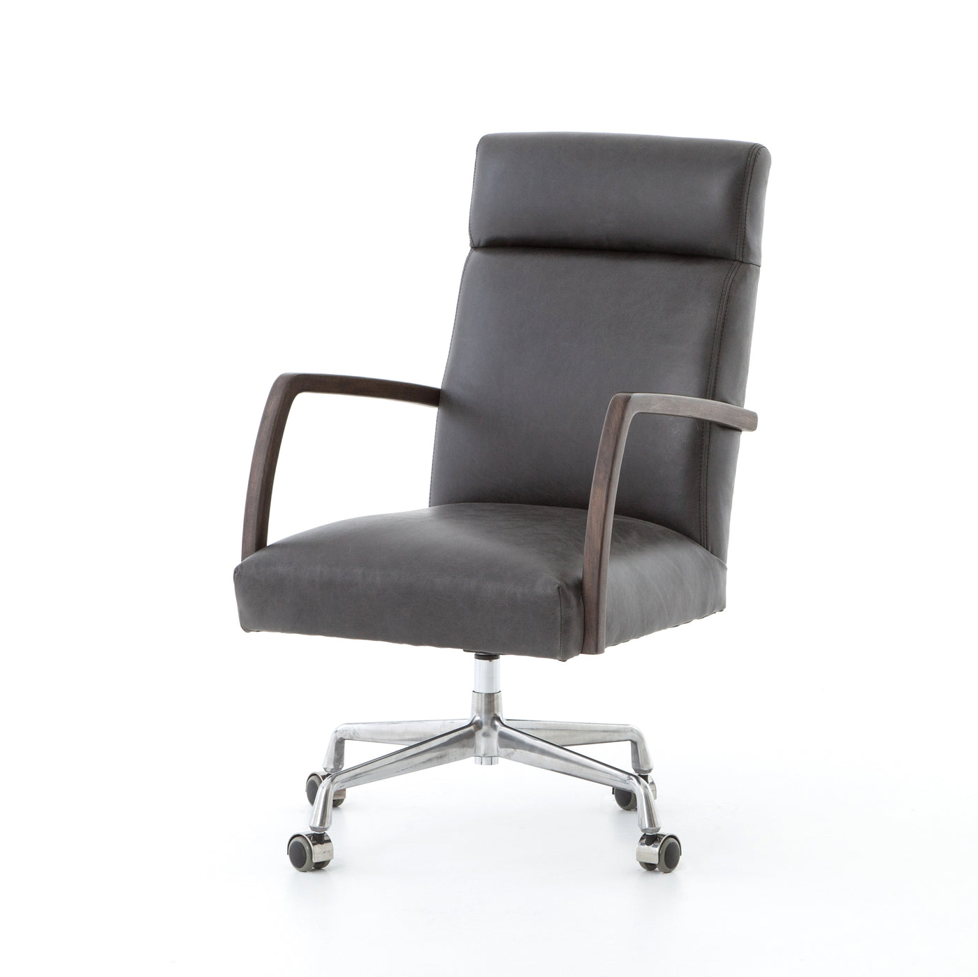 four hands bryson desk chair chaps ebony