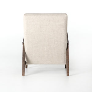 four hands chance chair linen natural back