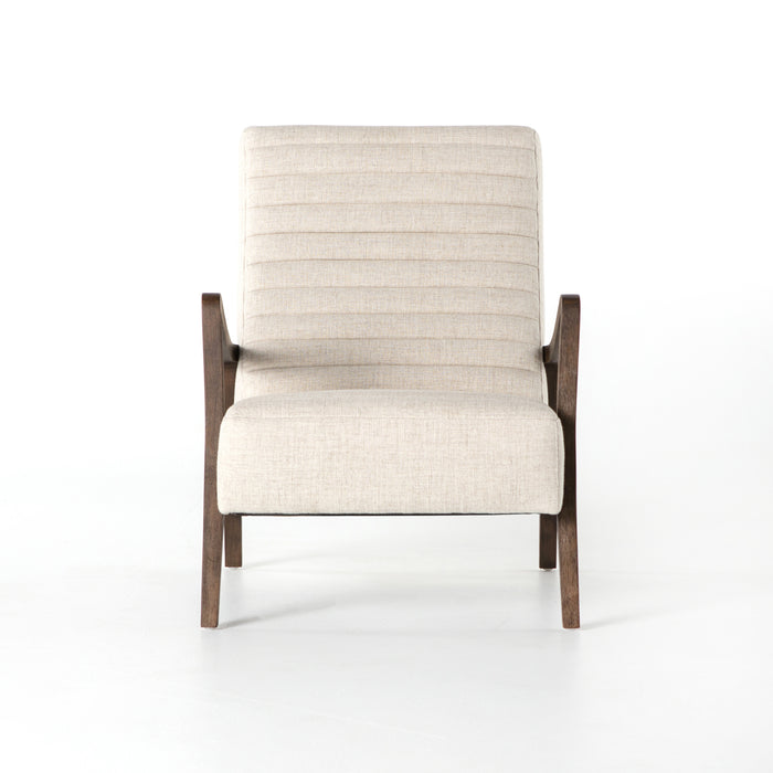 four hands chance chair linen natural front