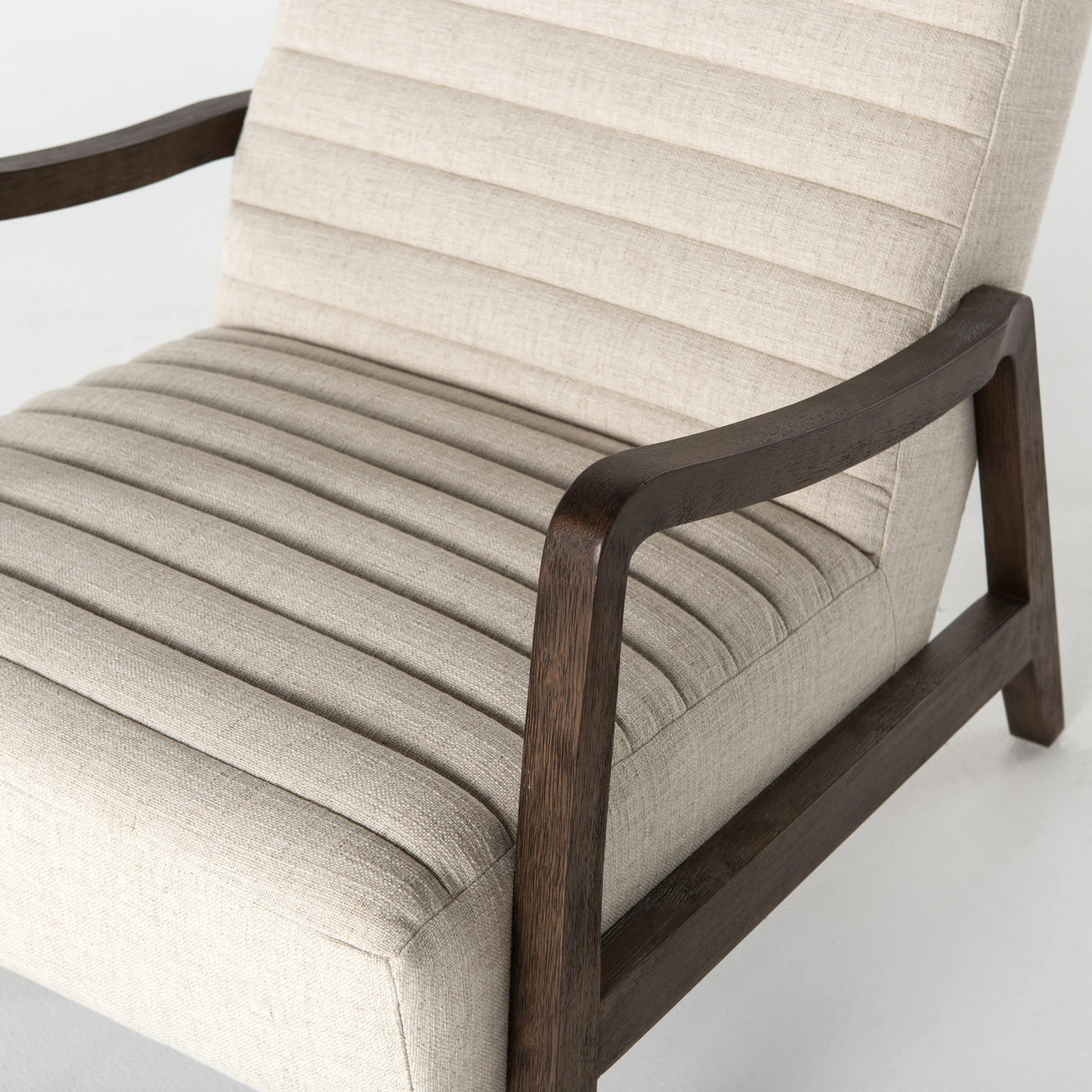 four hands chance chair linen natural seat
