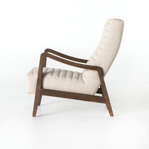 four hands chance chair linen natural side